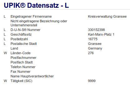 Firma Kreisverwaltung Oberhavel Jobcenter