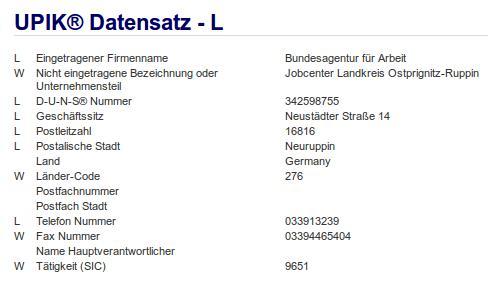Teilfirma Jobcenter Landkreis Ostprignitz-Ruppin