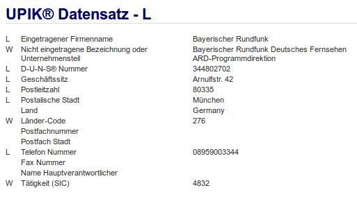 Firma: BR in München Nr2