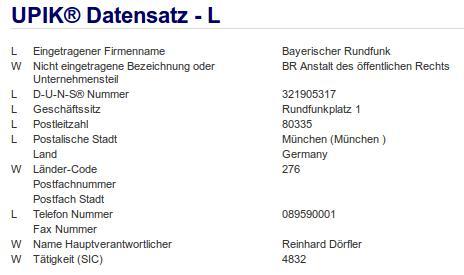 Firma: BR in München Nr3