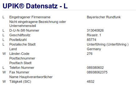 Firma: BR in Unterföhring
