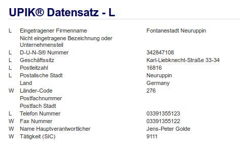 Firma Fontanestadt Neuruppin