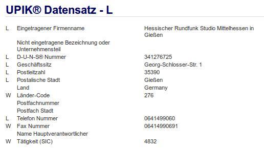 Firma: HR in Gießen