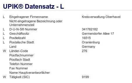 Firma: Kreisverwaltung Oberhavel in Oranienburg Nr1