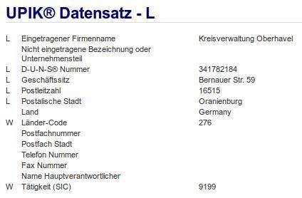 Firma: Kreisverwaltung Oberhavel in Oranienburg Nr2