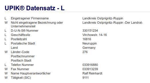 Firma: Landkreis Ostprignitz-Ruppin Neuruppin