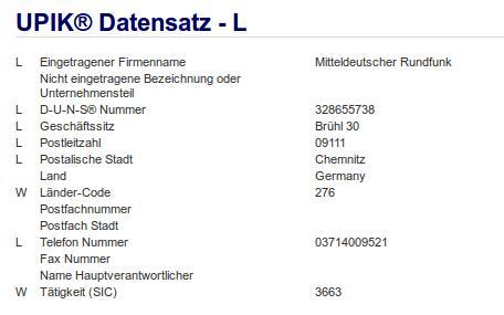 Firma: MDR in Chemnitz Nr2