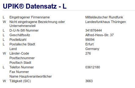 Firma: MDR in Erfurt Nr1