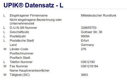 Firma: MDR in Erfurt Nr2