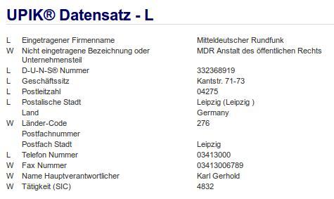 Firma: MDR in Leipzig Nr2