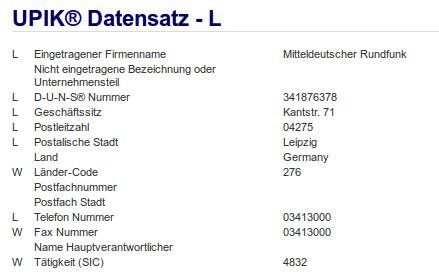 Firma: MDR in Leipzig Nr5