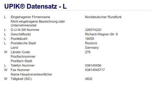 Firma: NDR in Rostock