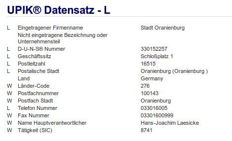Firma: Stadt Oranienburg
