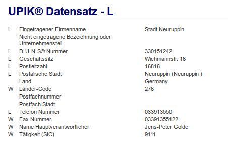 Firma Stadt Neuruppin