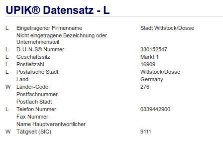 Firma: Stadt Wittstock