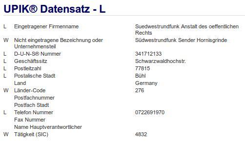 Firma: SWR in Bühl