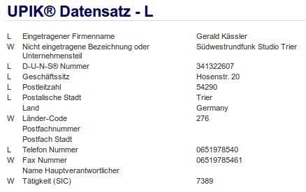 Firma: SWR in Trier
