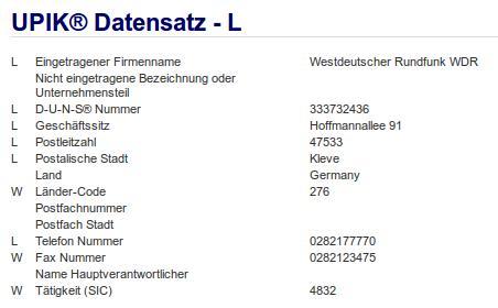 Firma: WDR in Kleve