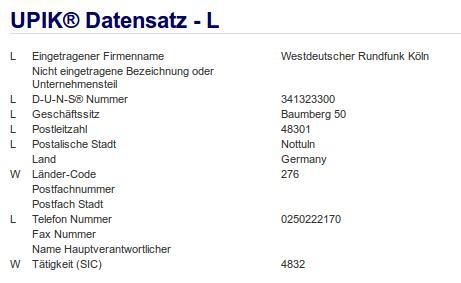 Firma: WDR in Nottuln