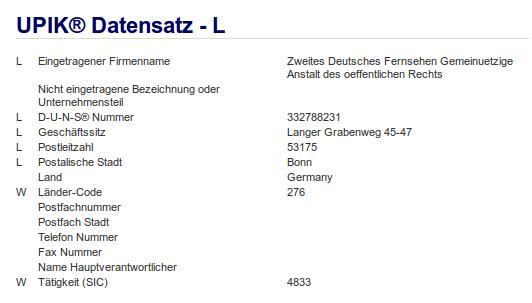 Firma: ZDF in Bonn