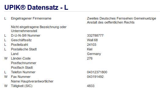 Firma: ZDF in Kiel