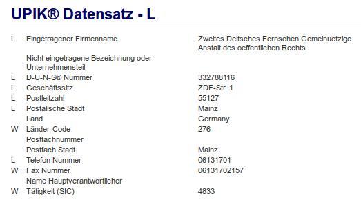 Firma: ZDF in Mainz Nr3