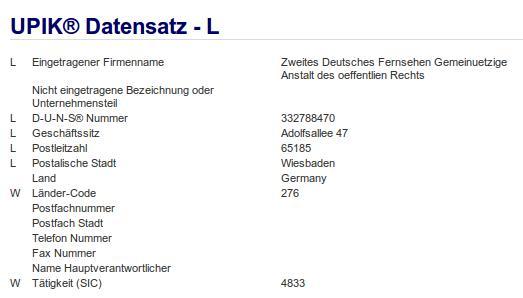 Firma: ZDF in Wiesbaden Nr1